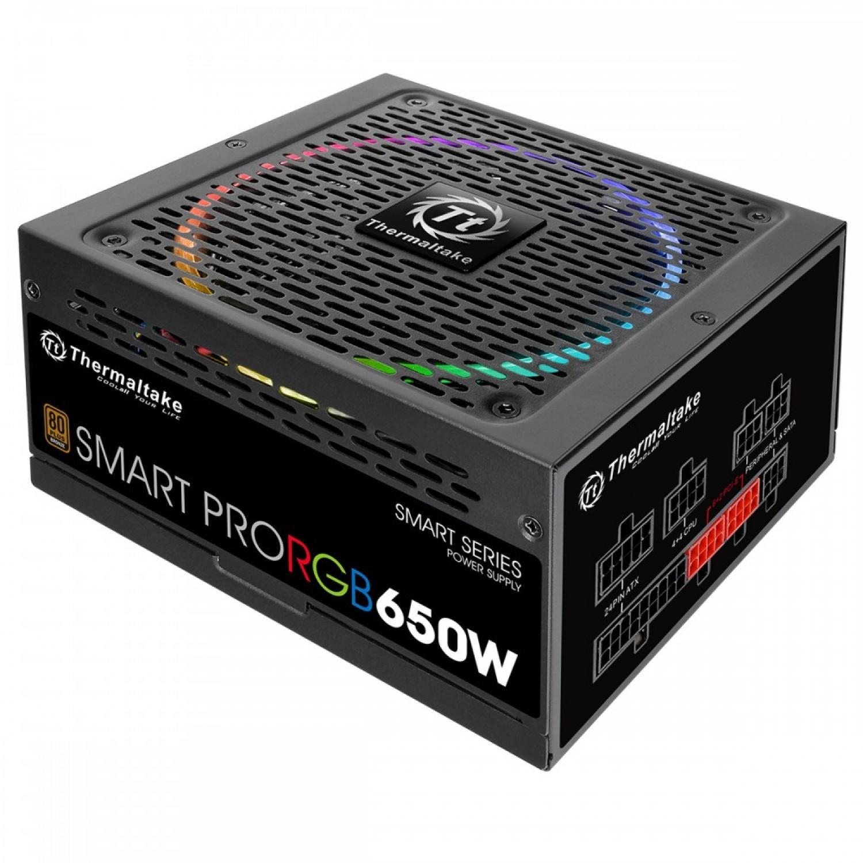 FUENTE THERMALTAKE SMART PRO RGB 650W 80 PLUS BRONZE FULL MODULAR