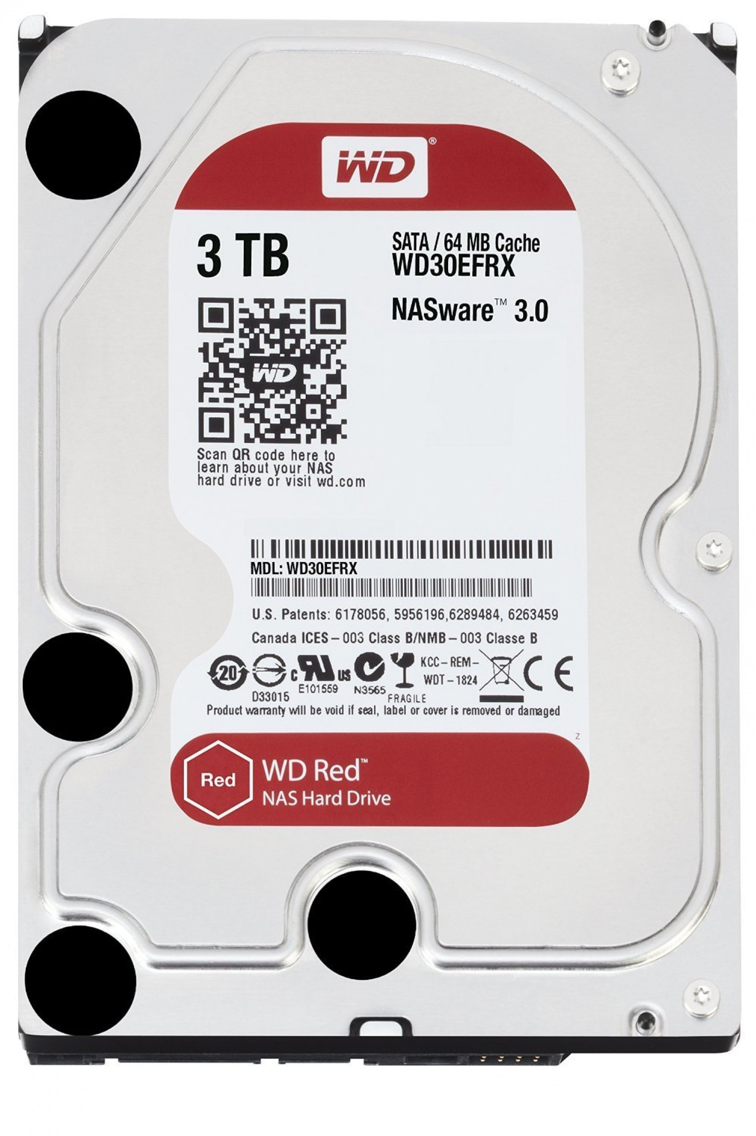DISCO HDD WD S 3 TB S-ATA3 RED 64MB