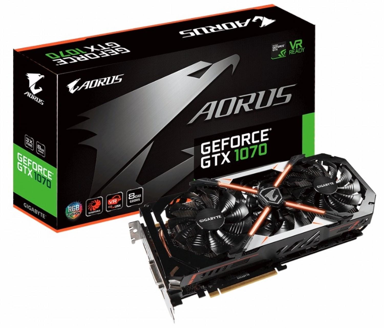 PLACA DE VIDEO GIGABYTE GTX1070 AORUS 8GB DDR5 REV 2.0