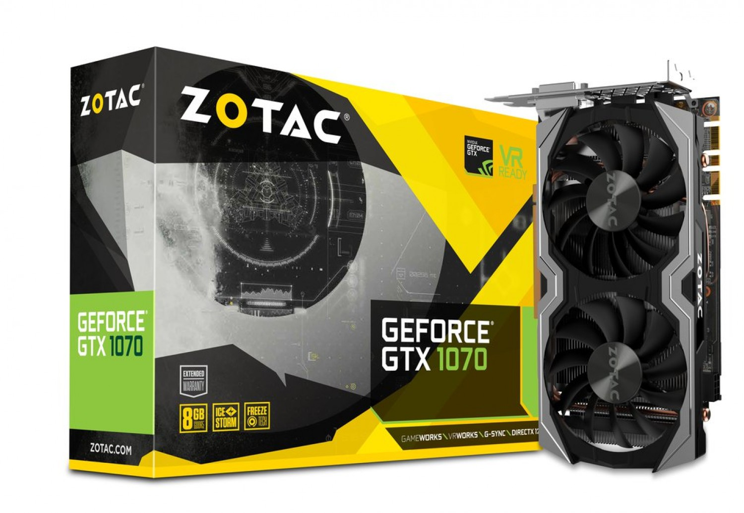 PLACA DE VIDEO ZOTAC GEFORCE GTX 1070 8GB D5